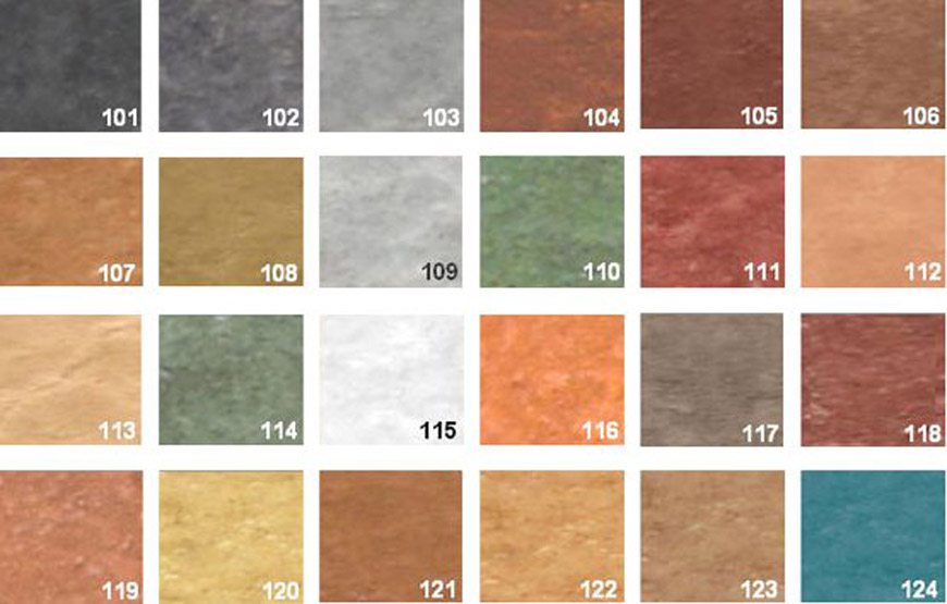 colores de hormigon impreso